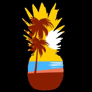 Ananas Sommer Strand Meer Geschenk