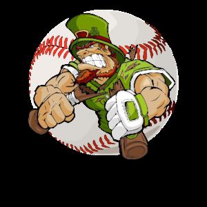 Baseball Leprechaun T Shirt St Patricks Day