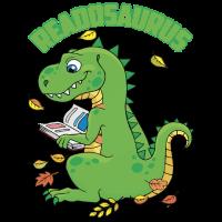 Reading Dinosaurus T Rex Book Lover T Shirt