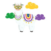 Mardi Gras Llama Funny Carnival Fat Tuesday Party