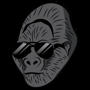 Gorilla mit Sonnenbrille