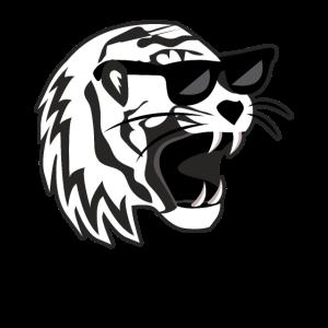 Tiger mit Brille