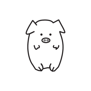 Nettes kleines Schwein