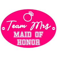 Trauzeugin Team Braut Mrs maid of honor pink
