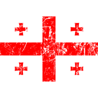 Georgia-Flaggenweinleseeffekt