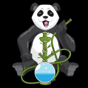 Panda Bär Shisha Shirt, Panda raucht Bambus Pfeife