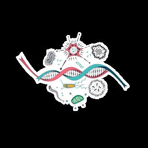 Mikrobiologie DNA Genomics Geschenk T-Shirt Idee