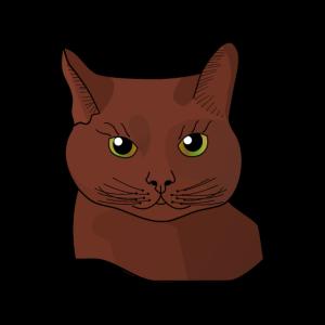 Katze gemalt braun