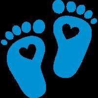 Baby Füße, Herzen, Fuß, Geburt, Geschenk, Mama