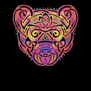Psychedelischer Panda - geistiges Grizzlybär-Geschenk