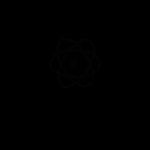 Atoms are empty Physic Spruch Geschenk