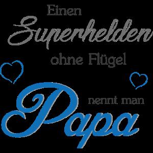 Papa der Superheld Geschenk zum Vatertag