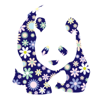 Panda Pandabär Bär Blumen