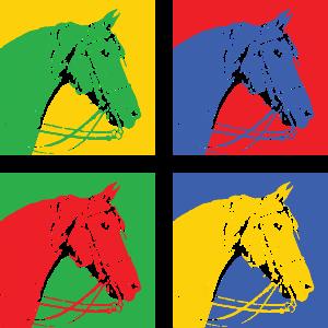 Pferd Pop Art