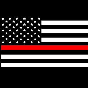 Dünne rote Linie amerikanische Flagge