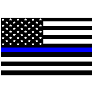Dünne blaue Linie amerikanische Flagge