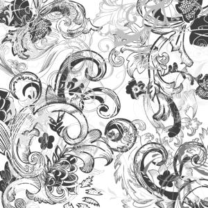 Blumen Ornamente Muster wh