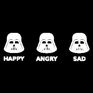 Darth Vader Moods Happy Angry Sad