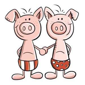 Beste Freunde Schweine Zwillinge Fun Geschenk
