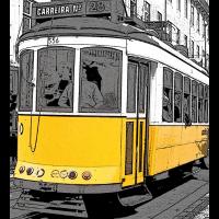 Pop-Art-Straßenbahn