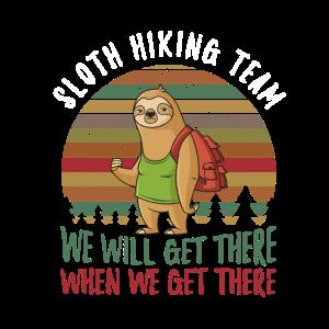 Sloth Hiking Team Faultier Wandern Geschenk-Idee