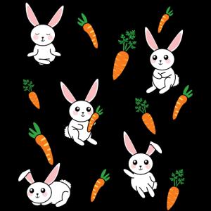 Hase Haustier Karotte süß