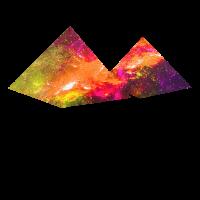 Bunte Pyramiden Geschenk