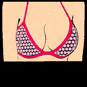 Frau Oberkörper Brust Bikini