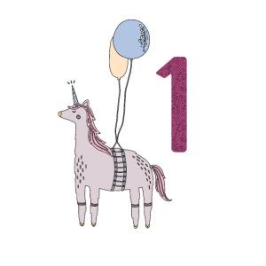 1 Jahr Einhorn / Geschenkidee zum 1. Geburtstag