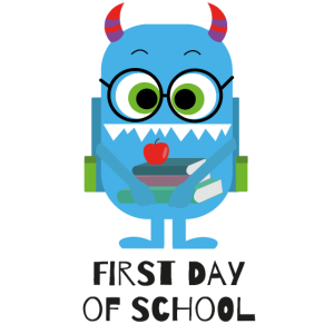 Monster first day of School