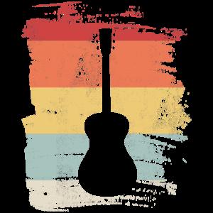 Retro Gitarre Gitarrist Musik Musiker Geschenk