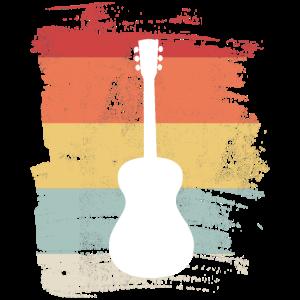 Vintage Gitarre Gitarrist Musik Musiker Geschenk