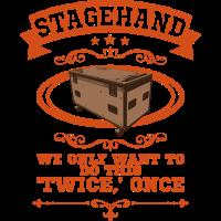 Stagehand Stagecrew Crew Roadie Event Geschenk
