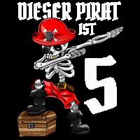 5 Jahre dabbing Pirat Junge 5. Geburtstag Geschenk