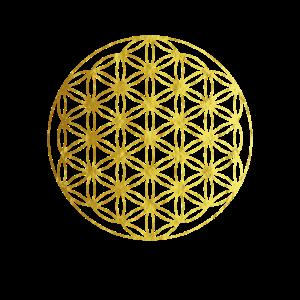 Blume des Lebens Gold Yoga Geschenkidee