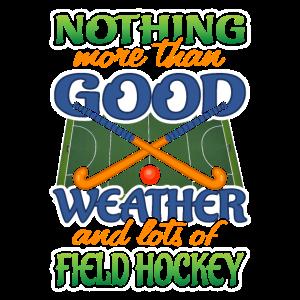 Gutes Wetter und Feldhockey-Shirt
