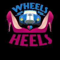 Wheels or Heels Baby Shower Gender Reveal Tshirt