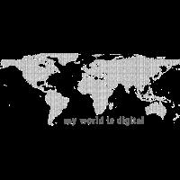 my digital world - schwarz-weiss