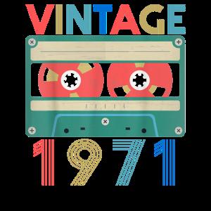 Retro Vintage Juni 1971 Geburtstag
