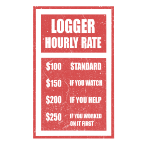 Logger Hourly Rate Holzarbeiter Holzfäller