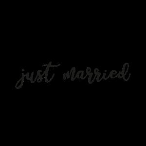 Just Married - Hochzeit - Spruch - Cool - Herz