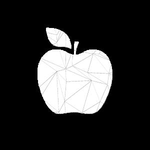 Geometrischer Apfel