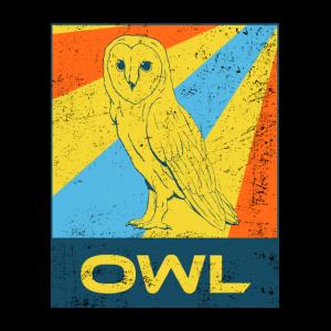 Owl Eule Retro