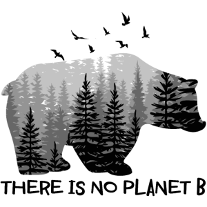 There is No Planet B Shirt Bear Birds Trees Shirt
