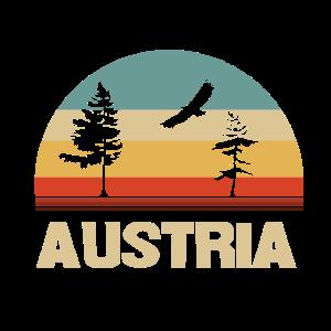 retro Österreich Motiv mit Natur