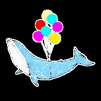 Buckelwal Blauwal Wal Walfisch Ballon fliegen