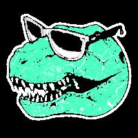 Tyrannosaurus Rex Dinosaurier mit Brille