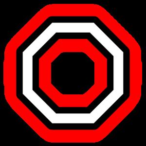 Hexagon Weiß Schwarz Rot Sechseck