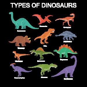Dinosaurier-Identifikations-T-Shirt Geschenk-Arten von Dino