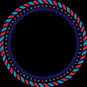 Ein kreisrunder Rahmen